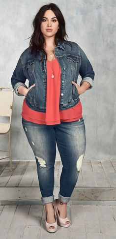 Plus Size Outfit - Shop the Look affiliate link Women Big Size Clothes - http://amzn.to/2ix7dK5