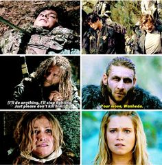 Bellamy Blake: Clarke Griffin's weakness Best Series, Best Tv Shows, Best Shows Ever, Movies And Tv Shows, Tv Series, Roan The 100, 100 Memes, Nerd Memes, King Roan