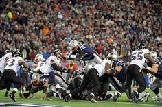Tom Brady scores - AFC Championship: Patriots vs. Ravens - Sun, Jan 22, 2012 Gillette Stadium