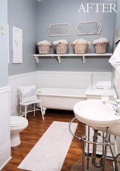Top 10 Small Bathroom Ideas Makeover, love the clawfoot tub!