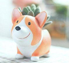 Cute Corgi Succulent Plant Pot - https://destinationcute.com - Your #1 destination for everything Cute & Kawaii