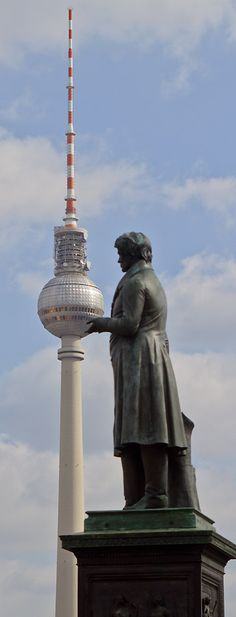 TV-Tower Berlin- there is a revolving restaurant in the ball. (been up there)
