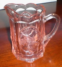 Tiara Exclusives Glassware | Tiara Exclusive Indiana Glass Pink Nursery Rhyme Child's Size Pitcher ...