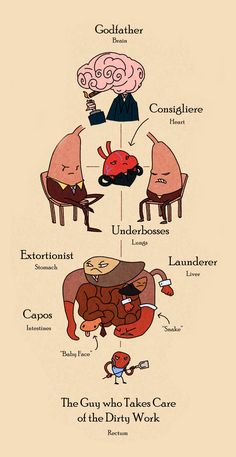 Organ-ized Crime. I love this. Although the lungs should be above the heart because CO2 is what prompts the heart to beat.