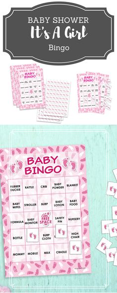 Abc book custom coloring books baby shower activity diy baby its a girl baby shower bingo game for up to 24 guests solutioingenieria Choice Image