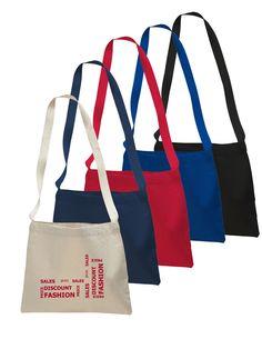 12 oz. Small Cotton Canvas Messenger Bag  #cottonmessengerbag