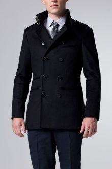 Black Military Coat//
