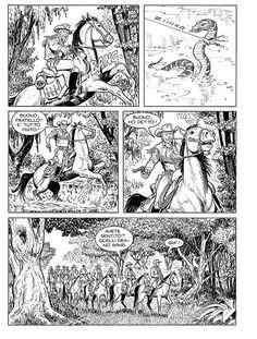 Página desenhada por Ugolino Cossu para a história escrita por Pasquale Ruju e que será publicada a 6 de Outubro no Maxi Tex nº 20