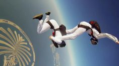 "Aleksander and Mikhael skydive over Dubai in a mesmerizing routine over the iconic Palm Islands.     Shot 100% on the HERO3+® camera from ‪http://GoPro.com.  Music William Ryan Fritch ""Aimless Dream"" http://www.williamryanfritch.com/"