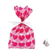 12 ~ Heart Cellophane Bags ~ 5' X 2 1/2' X 11 1/4' ~ New ~ Valentine Favor Bags, Wedding Gift Bags * Continue to the product at the image link.