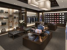 Our new BOSS Store at Americana Manhasset opened its doors for the first time on September Stop by at Northern Boulevard, Manhasset, NY 11030 and take a look at the new BOSS, HUGO and BOSS Orange collections! Showroom Design, Shop Interior Design, Visual Merchandising, Hugo Boss Store, Clothing Store Design, Boss T Shirt, Dressing Room Design, Store Layout, Retail Store Design