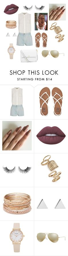 """""""Causal Day out!!!!"""" by god-crazy ❤ liked on Polyvore featuring beauty, Sea, New York, Billabong, Lime Crime, Topshop, Red Camel, Jennifer Meyer Jewelry, Ray-Ban and Tory Burch"""