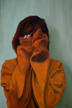 "Artist: Peter Seminck's Painting ""2 shy""... This is what I've learned to disguise with a smile until my pulse returns to normal."