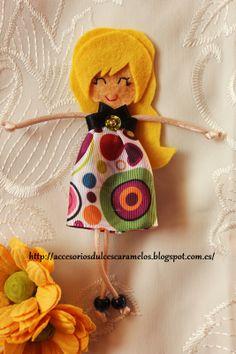 Quecas de Fieltro / Dolls felt Mod47 http://accesoriosdulcescaramelos.blogspot.com.es/search/label/Mu%C3%B1ecas%20%28Quecas%20de%20Fieltro%29