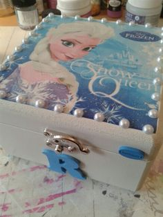 Elsa Frozen wooden box