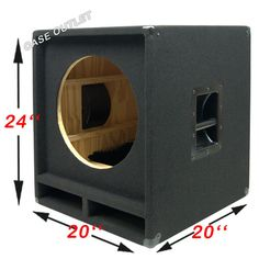 Empty Low Frequency, Sub, Bass Speaker Cabinet US Made 8 Inch Subwoofer Box, Diy Subwoofer, Subwoofer Box Design, Speaker Box Design, Subwoofer Speaker, Audio Amplifier, Diy Speakers, Tower Speakers, Horn Speakers