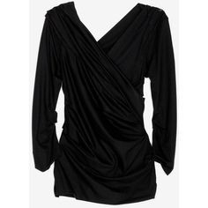 Diane Von Furstenberg Diane Von Furstenberg Bentley Ruched Jersey Top ($198) ❤ liked on Polyvore