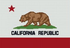 $5 - CALIFORNIA Flag Crochet Pattern - Crochet Afghan Pattern - Graphghan by AngelicCrochetDesign on Etsy