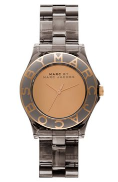 i love my black patent leather Marc Jacobs watch, but there is something about this one i really like.