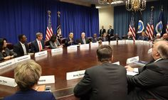 President Obama meets with agriculture and business leaders to discuss the benefits of the partnership