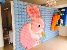 easter bunny backdrop