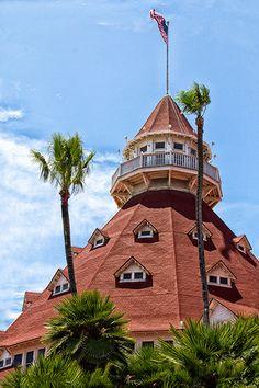 Victorian era wooden beach hotel ~ the famous Hotel Del Coronado, San Diego, CA