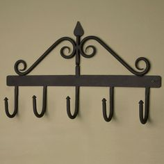 Morley Hand-Forged Iron Coat Rack