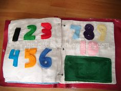 How to Make a Quiet Book: Page 22 & 23: Counting 1-10