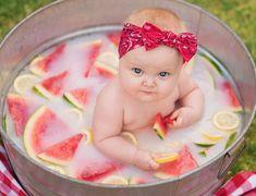 Summer lovin' in a watermelon milk bath! Summer lovin' in a watermelon milk bath! 1st Birthday Photoshoot, 1st Birthday Party For Girls, Girl Birthday Themes, Baby Birthday, Birthday Ideas, Birthday Gifts, Watermelon Birthday Parties, Watermelon Baby, Birthday Girl Pictures