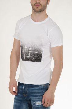 Μπλουζάκι λευκό με στάμπα μπροστά αντρικό sorbino