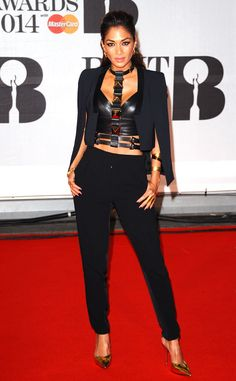 Nicole Scherzinger from 2014 Brit Awards: The singer leathers up in a super-sexy look.   E! Online