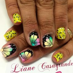 Instagram media by lianecds - Aline #unhabafo #unhaslindas #unhasbemfeitas #unhasdecoradas #instaunhas #nail #nails #degradê #nãoéadesivo #tudofeitoamão #lianecasagrande #nails2inspire