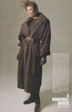 A Wonderful Winter For Coats Vogue 1984