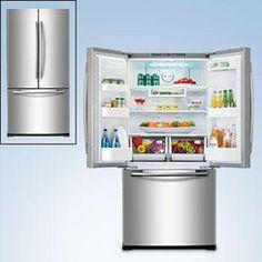 Samsung 18 cu. Ft. French Door Bottom Freezer Refrigerator - Stainless Steel $1199