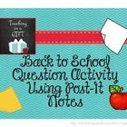 This activity is a great way to get to know your students and build rapport and community!  Print these colourful questions, laminate them and use ...