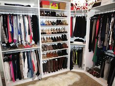 TiffanyD--awesome IKEA closet How about we do this in the spare room....