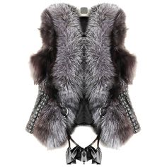 Pre-owned Black And Grey Fur Gilet Vest (931.995 IDR) ❤ liked on Polyvore featuring outerwear, vests, black, vest waistcoat, gilet vest, fur waistcoat, fur gilet and fur vest