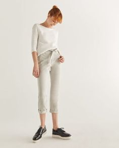 Shop online for Cropped Chino Pant with Sash. Find Bottoms, Clothing, Sale and more at Reitmans Cute Pants, Slim Legs, Girls Jeans, Flutter Sleeve, Denim Shirt, Body Shapes, Casual Tops, Sash