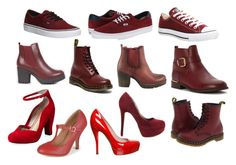 """""""Boots - red/ bordo"""" by mirielanarion on Polyvore featuring moda, Michael Antonio, Vans, Converse, Dr. Martens, TAXI, Refresh, Wanted, Journee Collection i Seychelles"""