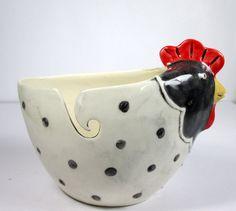 Hen yarn bowl