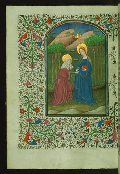Visitation  Text: Hours of the Virgin: Lauds - Book of Hours-Bruges-W246