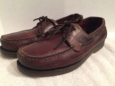 Sperry Top-Sider Mako 2-Eye Moc Amaretto Leather Boat Shoes Size 11 Brown  | eBay