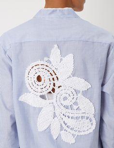 Blue Cotton Classic Shirt Dress