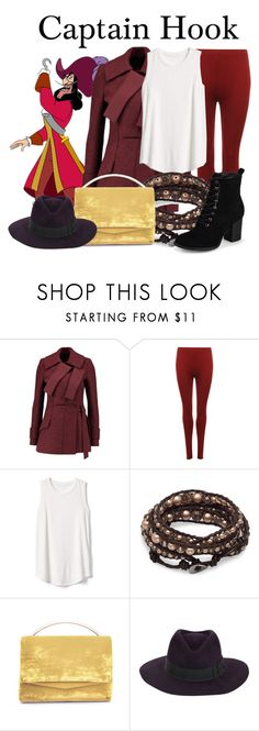 """Captain Hook"" by megan-vanwinkle ❤ liked on Polyvore featuring Proenza Schouler, WearAll, Gap, Eddie Borgo, Gladys Tamez Millinery and Journee Collection"