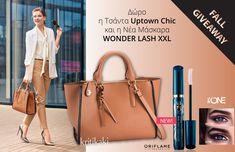 Fall Giveaway με Δώρo την κομψή τσάντα για το γραφείο Uptown Chic και τη Νέα Μάσκαρα WonderLash XXL! Michael Kors Jet Set, Tote Bag, Chic, Bags, Shabby Chic, Handbags, Elegant, Totes, Bag