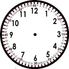 Free Blank Clock Template- teaching time to the minute. Teaching Time, Teaching Math, Math Classroom, Kindergarten Math, Classroom Clock, Classroom Ideas, Math Resources, Math Activities, Telling Time Activities