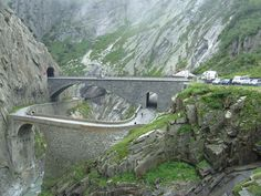 The Teufelsbrücke ('Devil's Bridge') is a bridge over the Schöllenen Gorge in the Swiss canton of Uri