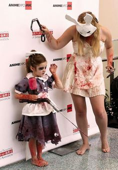 Bioshock... @Alex Bicomong you should have @Danielle Bicomong  & Rilyn do this for Halloween! They could totally pull it off!