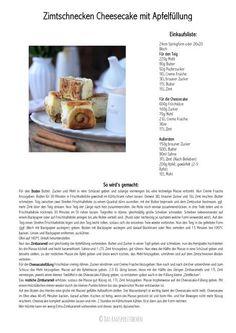 Aufgerollt: Zimtschnecken Cheesecake mit Apfelfüllung