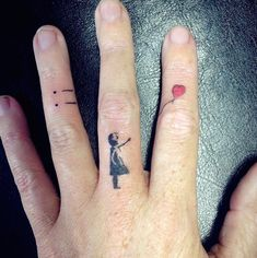 25 Tiny Finger Tattoos You'll Want to Get Right Now 25 Finger Tattoos That Deserve Two Thumbs Up Mini Tattoos, Finger Tattoo For Women, Small Finger Tattoos, Finger Tattoo Designs, Finger Tats, Tattoos For Women Small, Body Art Tattoos, Small Tattoos, Sleeve Tattoos